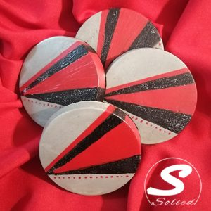 Decorative Black and Red Coasters