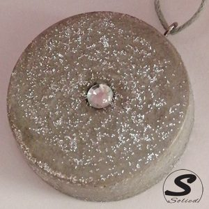 Solied Grey Sparkle Pendant