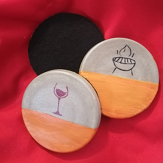 Solied Cement Coasters