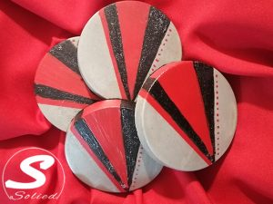 Decorative Cement Based Coasters Made in George
