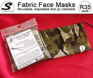 Comfortable Fabric Face Masks Made in George