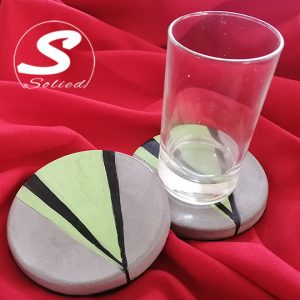 Funky Green Solied Coasters