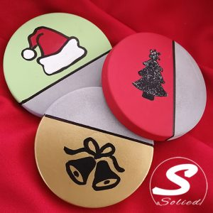 Christmas Cement Based Coasters