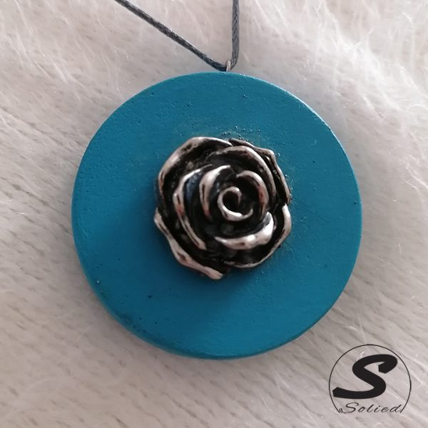 Turquoise Rose Pendants by Solied